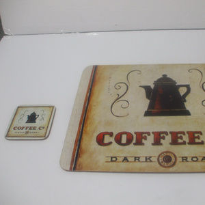 Other - Coffee Co Dark Roast 1 placemat and 1 coaster